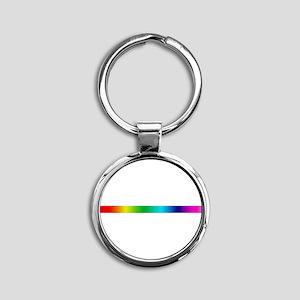rainbow_stripe Round Keychain