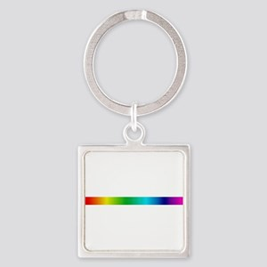 rainbow_stripe Square Keychain