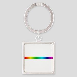 rainbow_stripe Square Keychain