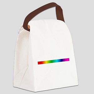 rainbow_stripe Canvas Lunch Bag