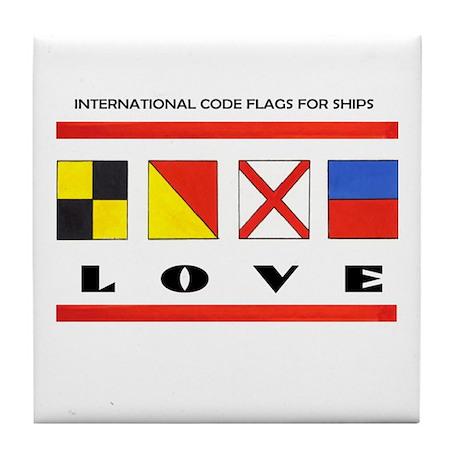 Flags: LOVE! Tile Coaster