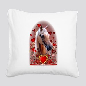 Sunny Hearts Square Canvas Pillow