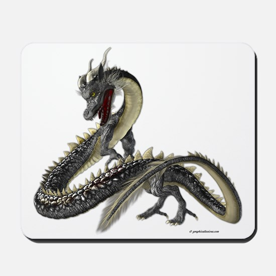 The Silver Dragon Mousepad