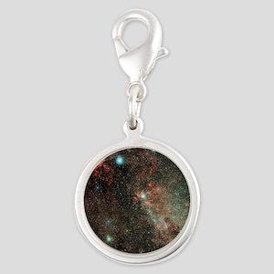 Milky Way in Cygnus - Silver Round Charm