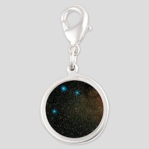 Sagittarius stars - Silver Round Charm