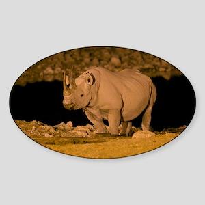 Black rhinoceros - Sticker (Oval)
