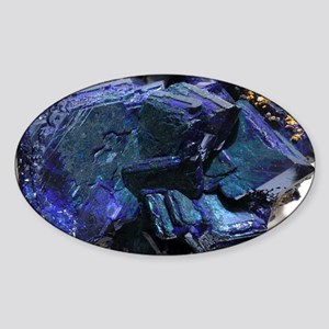 Azurite crystals - Sticker (Oval)