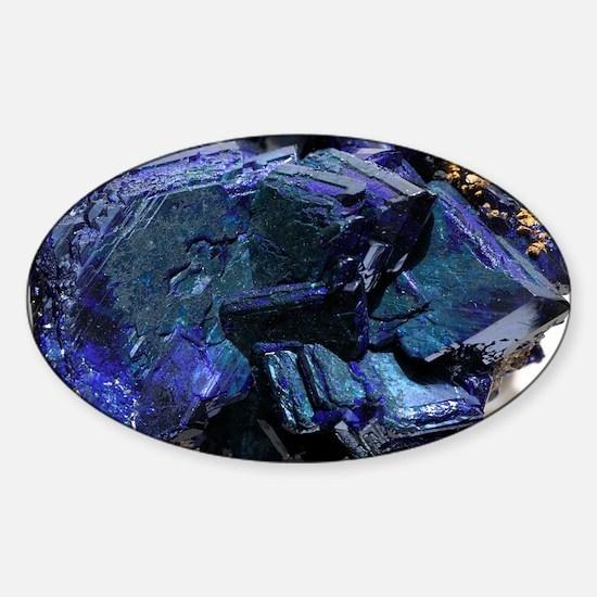 Azurite crystals - Sticker (Oval)