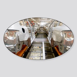 Car factory production line - Sticker (Oval)