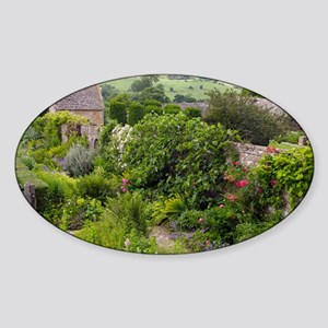 Country garden plants, UK - Sticker (Oval)