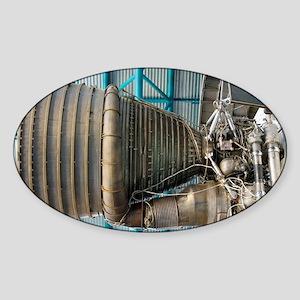 F1 engine on the Saturn V rocket - Sticker (Oval)