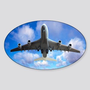 Jet flight, composite image - Sticker (Oval)