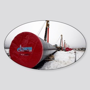 Laying a gas pipe - Sticker (Oval)