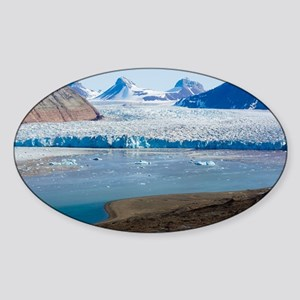 Kongsvegen glacier - Sticker (Oval)