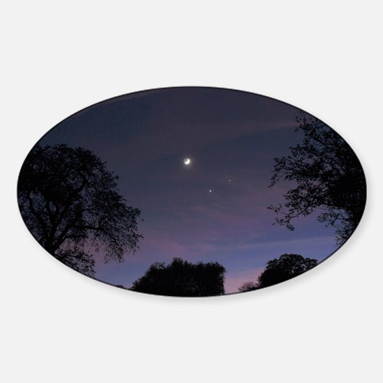 Planetary conjunction - Sticker (Oval)