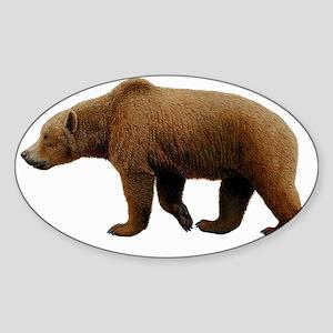 Prehistoric cave bear, artwork - Sticker (Oval)