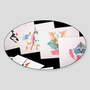 Rorshach Inkblot Test - Sticker (Oval)