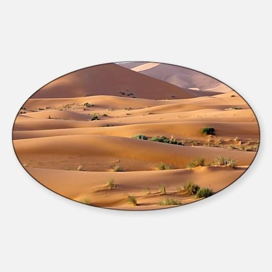 Saharan sand dunes - Sticker (Oval)