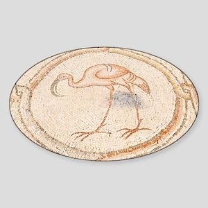 'Bird Mosai Flamingo detail - Sticker (Oval)