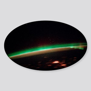 Aurora borealis - Sticker (Oval)