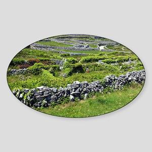 Ancient limestone fields - Sticker (Oval)