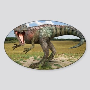 Allosaurus dinosaur, artwork - Sticker (Oval)