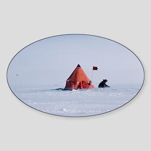 Antarctic field camp - Sticker (Oval)