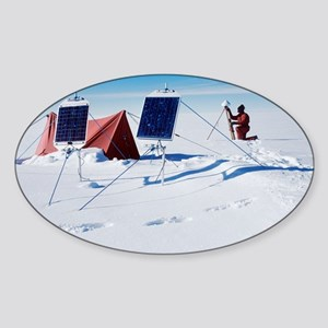 Antarctic research - Sticker (Oval)