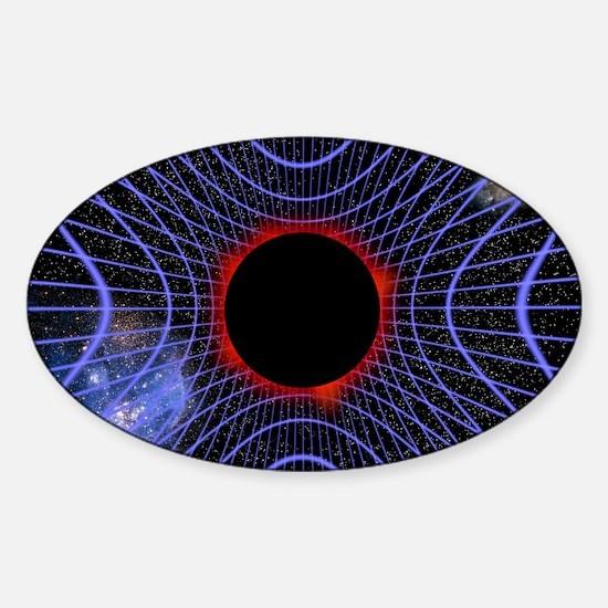 Black hole, artwork - Sticker (Oval)