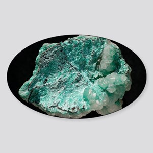 Aurichalcite crystals - Sticker (Oval)