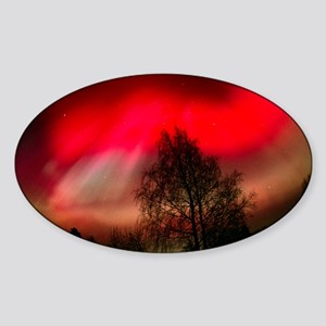 Aurora borealis - Sticker (Oval)