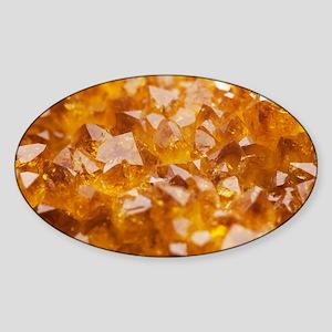 Citrine crystals - Sticker (Oval)