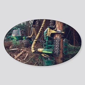 Commercial forestry - Sticker (Oval)