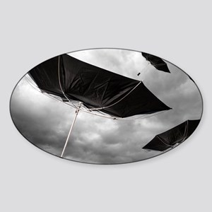 Climate change, composite image - Sticker (Oval)