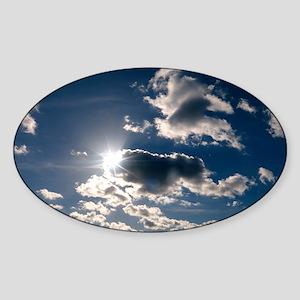 Clouds - Sticker (Oval)