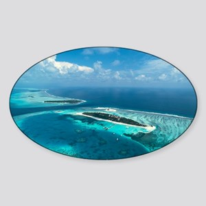 Coral islands - Sticker (Oval)