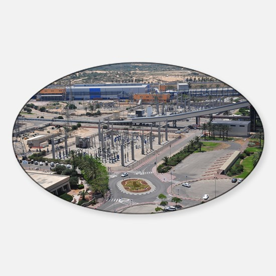 Coal operated power plant - Sticker (Oval)