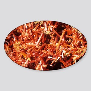 Crocoite mineral crystals - Sticker (Oval)
