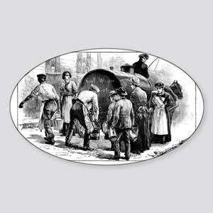 Cholera epidemic, 19th century - Sticker (Oval)