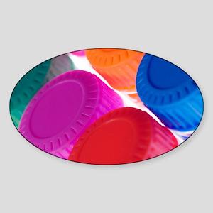 Coloured bottle caps - Sticker (Oval)