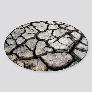 Cracked earth - Sticker (Oval)
