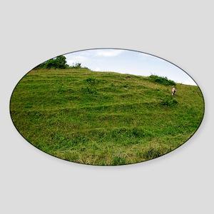 Hod hill iron age settlement - Sticker (Oval)