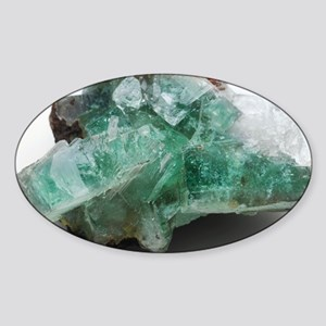 Green apophyllite - Sticker (Oval)