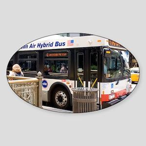 Hybrid bus in Chicago - Sticker (Oval)