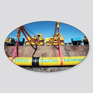Laying a gas pipeline - Sticker (Oval)