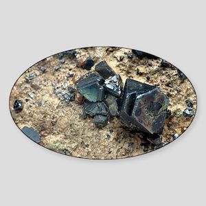 Monazite crystals - Sticker (Oval)