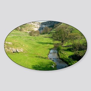 Malham Cove, Yorkshire Dales - Sticker (Oval)