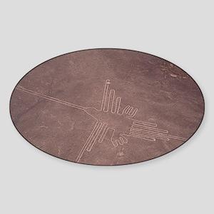 Nazca lines - Sticker (Oval)