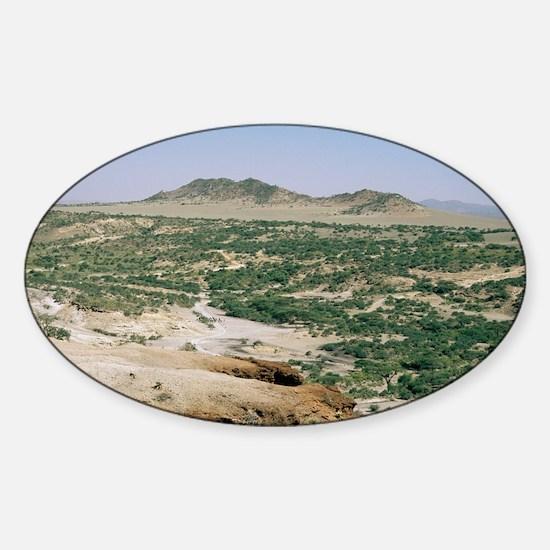Olduvai Gorge, Tanzania - Sticker (Oval)