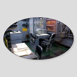 Operations room on USS Intrepid - Sticker (Oval)